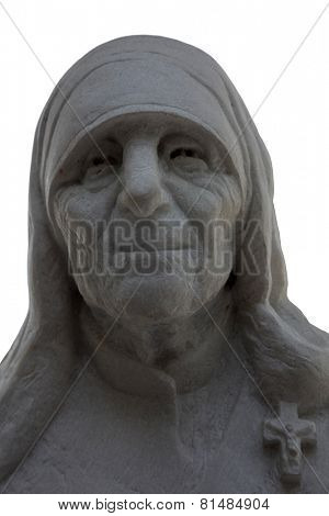 SKOPJE, MACEDONIA - MAY 17: Mother Teresa monument in Skopje on May 17, 2013. Mother Teresa monument Humanitarian Worker and Nobel Prize Winner in Skopje, Macedonia.