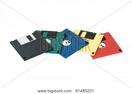 Mixed Floppy Disk With Dust