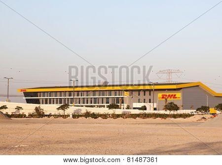 Dhl Parcel Service Building In Dubai