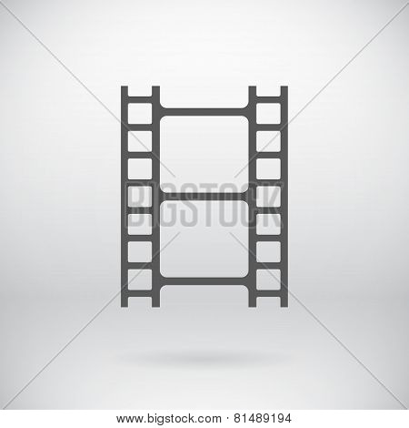 Flat Movie Film Strip Light Icon Vector Symbol Background