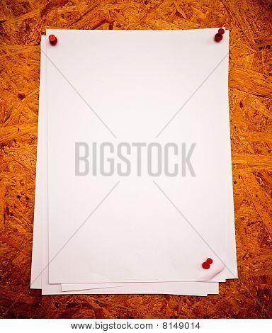 White Paper On A Cock Board