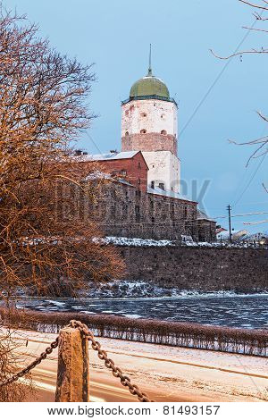 Vyborg Castle On A Winter Morning
