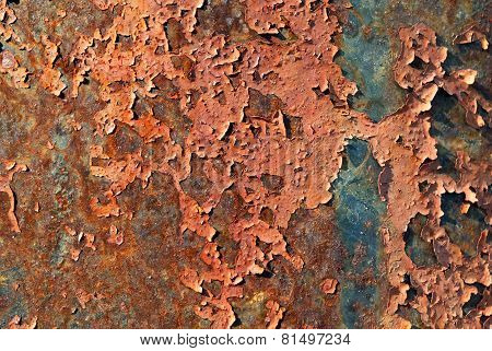 Metal corroded texture of rust colors.