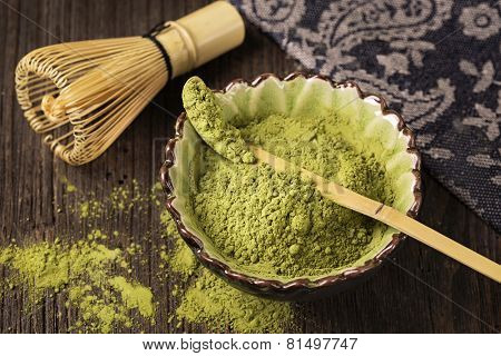 Matcha fine powdered green tea