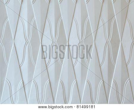Art Nouveau pattern in Hradec Kralove, Czech Republic. Background texture.