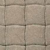 picture of paving stone  - Tiled with paving stone bricks path - JPG