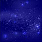 stock photo of north star  - vector illustration of the constellation Ursa Major and small - JPG