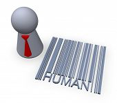 picture of mummer  - barcode human in 3d - JPG