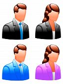 stock photo of people icon  - Set of glossy male and female icons - JPG