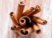 stock photo of cinnamon  - Close - JPG