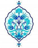 stock photo of ottoman  - Ornament design Ottoman Turkish and  decorative arts - JPG