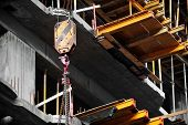 pic of hook  - Industrial crane hook on a construction site - JPG