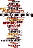 picture of supercomputer  - Cloud Computing word cloud - JPG