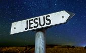 picture of jesus sign  - Jesus sign with a beautiful night background - JPG