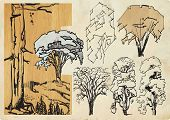stock photo of freehand drawing  - Abstraction of drawings  - JPG