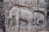 image of arjuna  - Great Penance of Arjuna - JPG