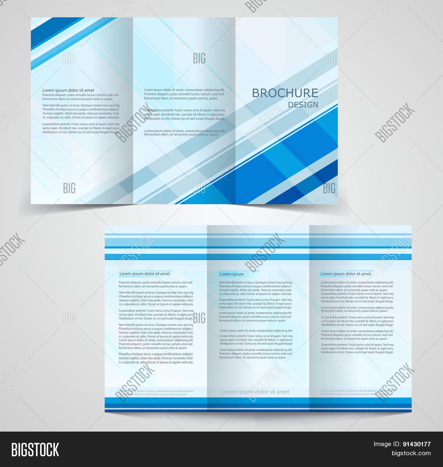 one sided brochure template - tri fold business brochure template two sided template