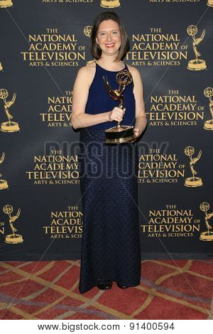 LOS ANGELES - APR 24: Melissa Carlson at The 42nd Daytime Creative Arts Emmy Awards Gala at the Universal Hilton Hotel on April 24, 2015 in Los Angeles, California