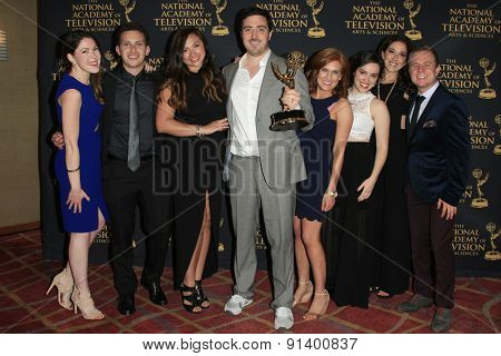 LOS ANGELES - APR 24: Outstanding New Approaches, Ellen Degeneres show at The 42nd Daytime Creative Arts Emmy Awards Gala at the Universal Hilton Hotel on April 24, 2015 in Los Angeles, California