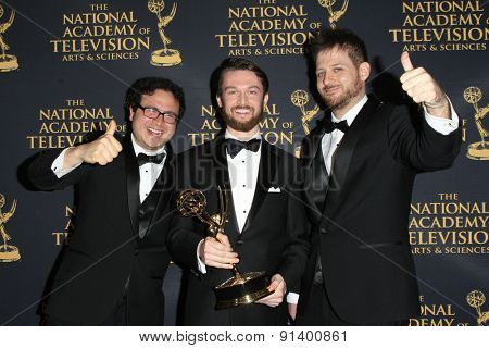 LOS ANGELES - APR 24: Cory Choy, Hunt Beaty, Robin Shore at The 42nd Daytime Creative Arts Emmy Awards Gala at the Universal Hilton Hotel on April 24, 2015 in Los Angeles, California