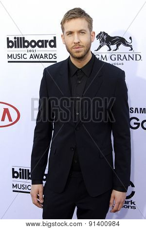 LAS VEGAS - MAY 17: Calvin Harris at the 2015 Billboard Music Awards at the MGM Grand Garden Arena on May 17, 2015 in Las Vegas, Nevada.