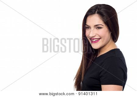 Attractive Woman Posing In Casuals
