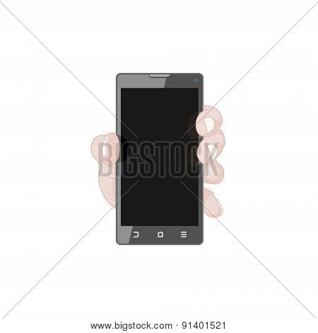 Hand with Smart Phone