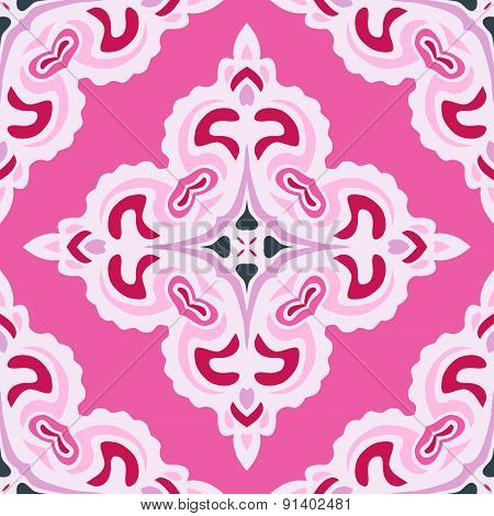 Pink abstract Seamless pattern tile