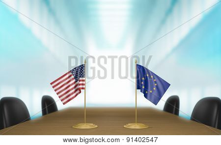 United States and European Union economic trade deal talks