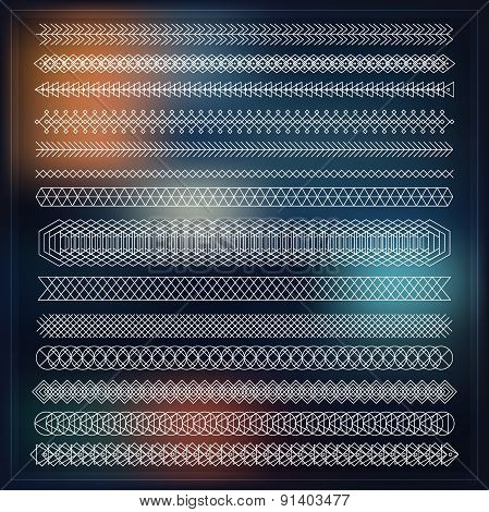 Set Of Line Geometric Hipster Vintage Design Elements