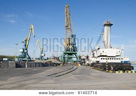 Port Cranes In Sea Port