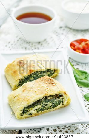 Strudel With Spinach And Ricotta