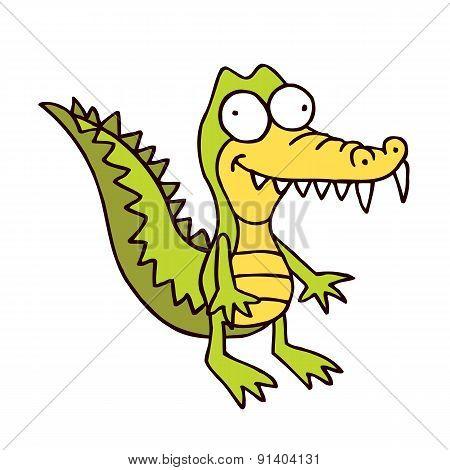 crocodile cartoon smiling alligator funny character
