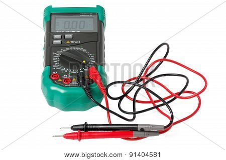 Isolated digital multimeter with probes
