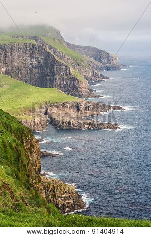 Dramatic coastline on Faroe islands.