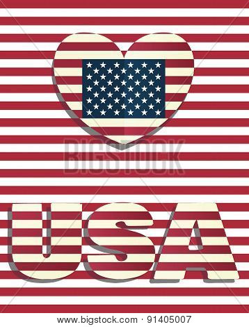 Heart Love Usa Amerika