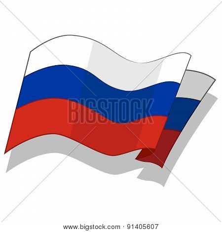 Flag of the Russian Federation.