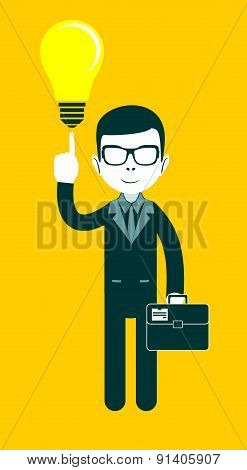 Businessman as a symbol of having an idea