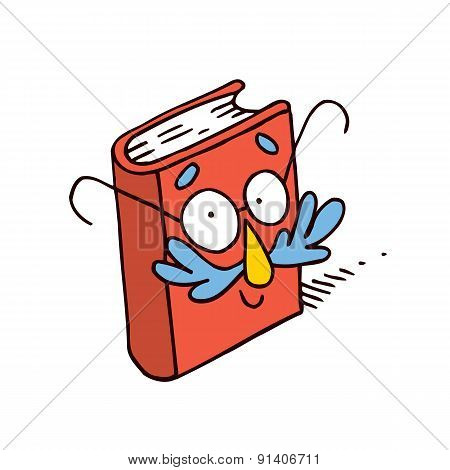 cute cartoon book character mascot