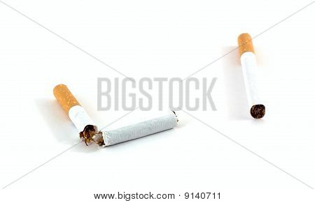 Broken Cigarette And The Whole Cigarette