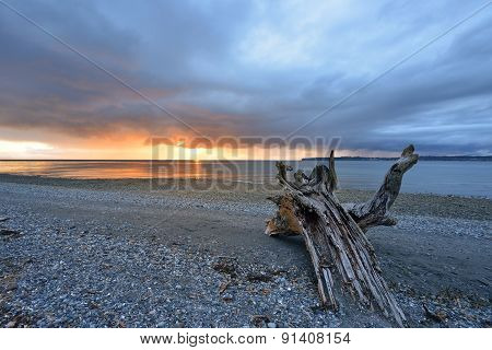 Birch Bay State Park Stormy Sunset
