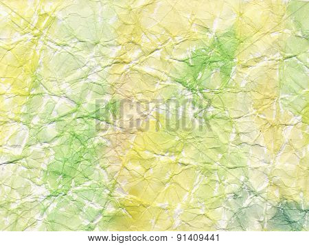 Crumpled Paper With Watercolor Stains