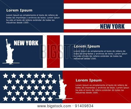 advertising or information cards to New York