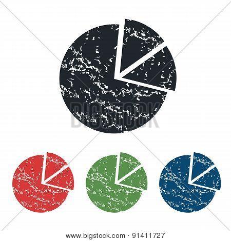 Diagram grunge icon set