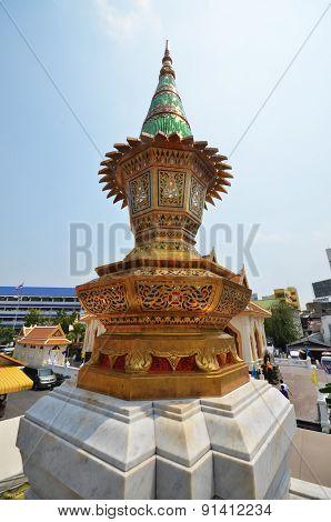 Miniature Stupa At Wat Traimit