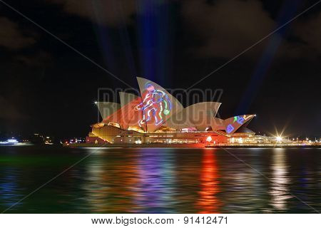 Sydney Opera House During Vivid Sydney Annual Festival