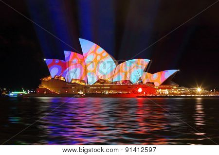 Sydney Opera House In Colourful Circles Design