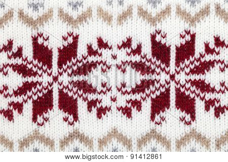 Real knitted fabric textured background