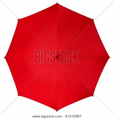 Red Umbrella Isolated