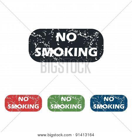NO SMOKING grunge icon set